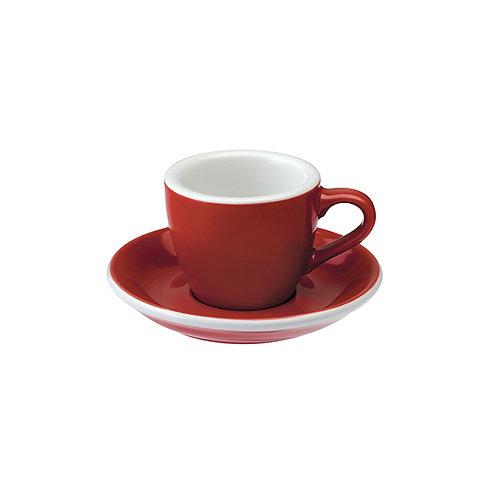 Espressotasse EGG 80 ml Rot, inkl. Unterteller