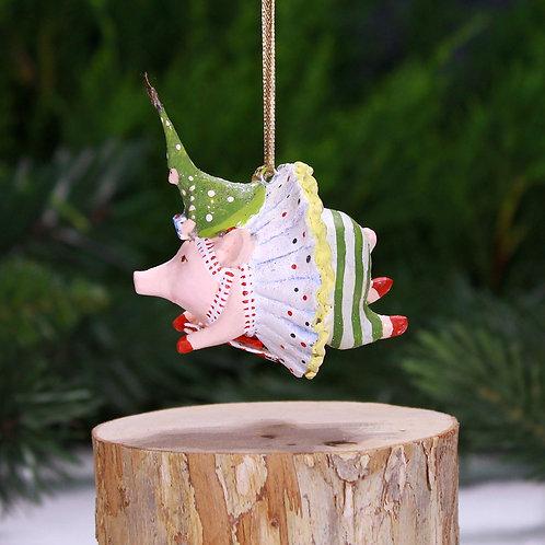 PIGS MINI ORNAMENT - Joyful Pig