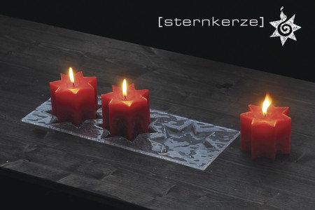 Sternkerzen – 3er Mini-Glasuntersetzer