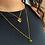 Thumbnail: MARBLE ANHÄNGER Silber vergoldet - Kristallglas