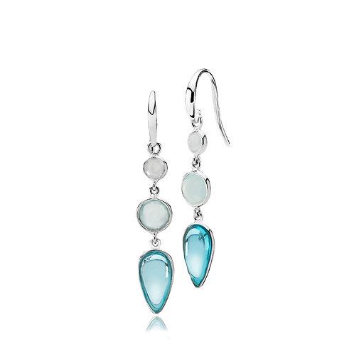 ANNABELLA OHRRINGE Silber - Aqua Quarz