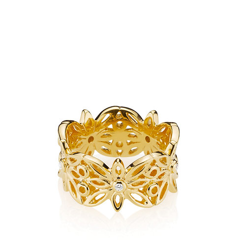 BLOSSOM RING Silber vergoldet