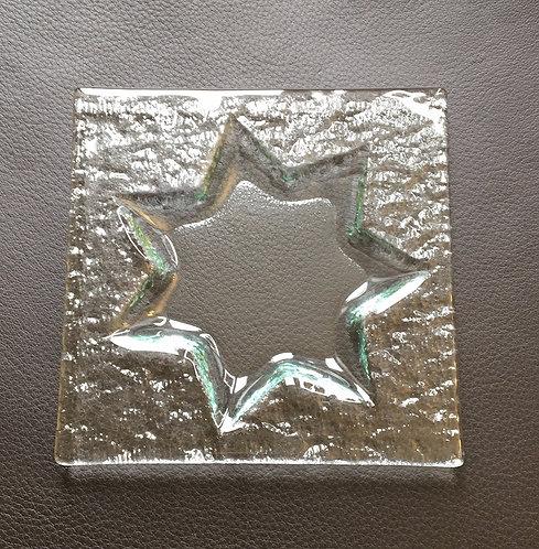 Sternkerzen – Glasuntersetzer Mini Eckig