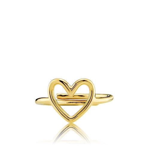 LOVE RING Silber vergoldet