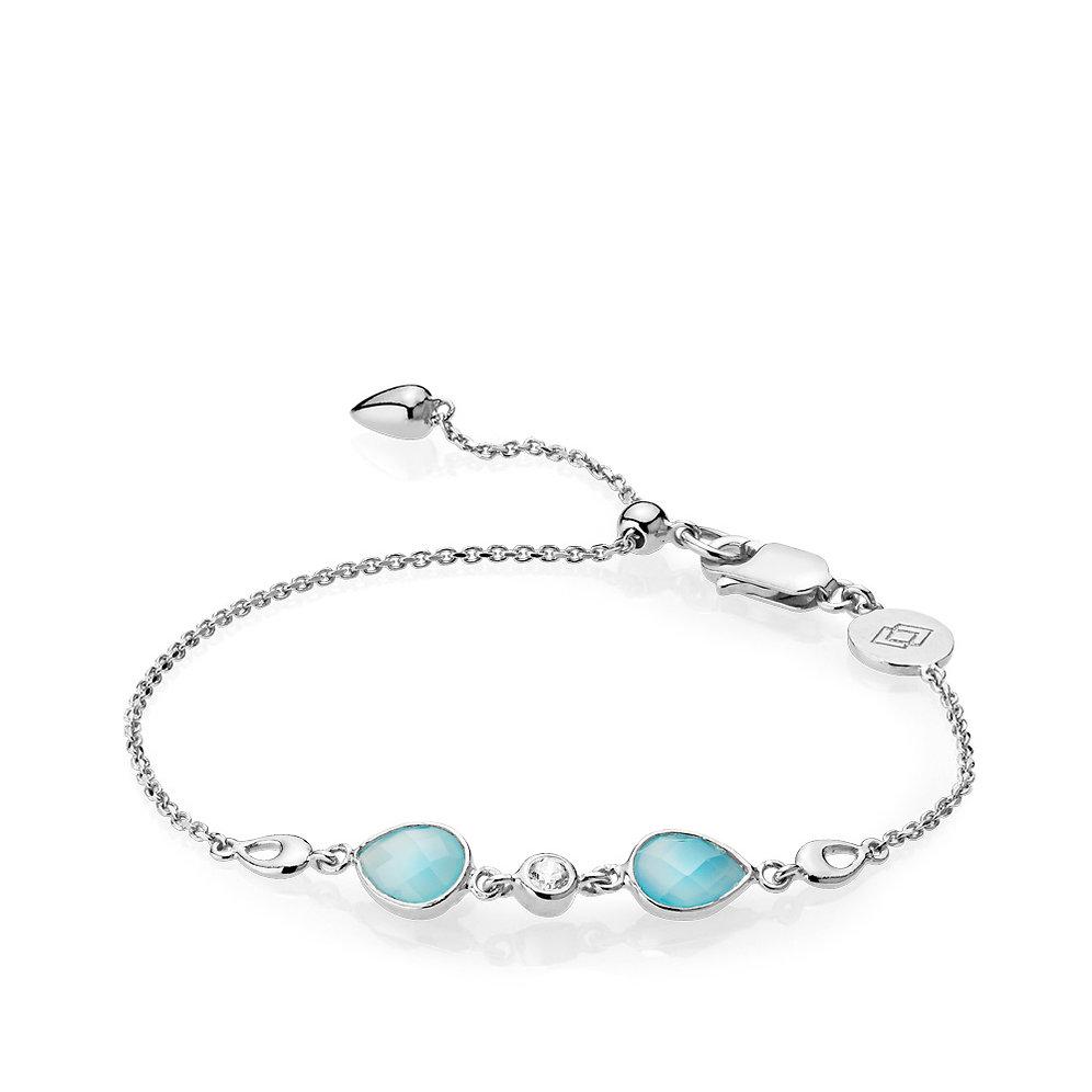 Blauer Imperial Chalzedon Imperial Blauer Imperial Armband Armband Silber Chalzedon Silber Fl1TKcJ