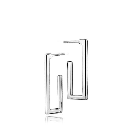 TIMES SQUARE OHRSTECKER Silber
