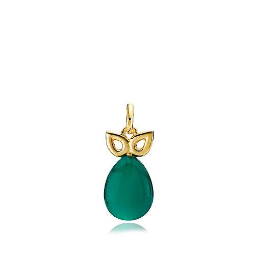 SCARLET ANHÄNGER Silber vergoldet - Grüner Onyx