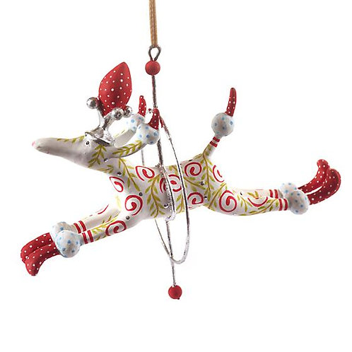 DOGS ORNAMENT - Lalla Leaping Poodle