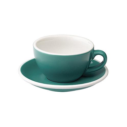 Cappuccinotasse EGG 200 ml Teal, inkl. Unterteller
