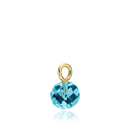 MARBLE ANHÄNGER Silber vergoldet - Kristallglas
