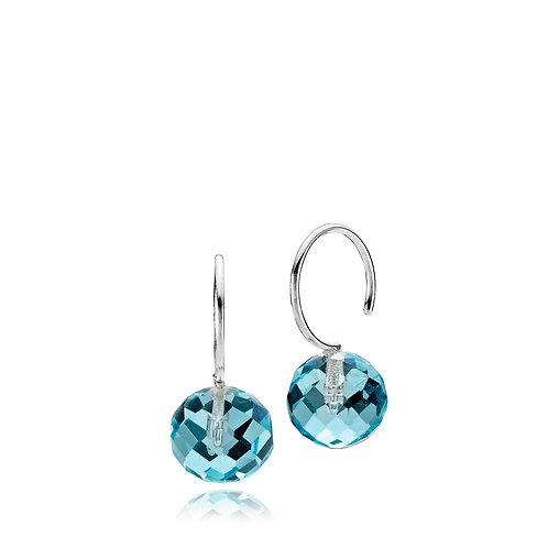 MARBLE OHRHÄNGER Silber - Kristallglas