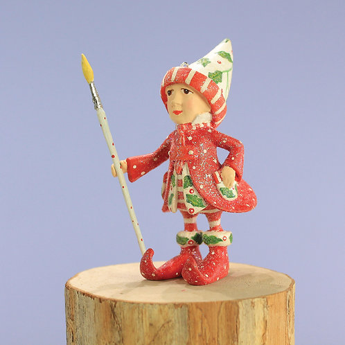DASH AWAY ELF MINI ORNAMENT - Vixen