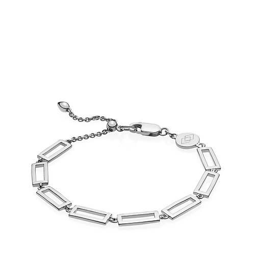 TIMES SQUARE ARMBAND Silber