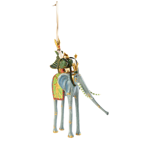 NATIVITY ORNAMENT - Casper on Elephant
