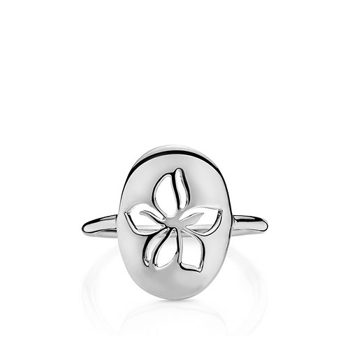 HIBISCUS RING Silber