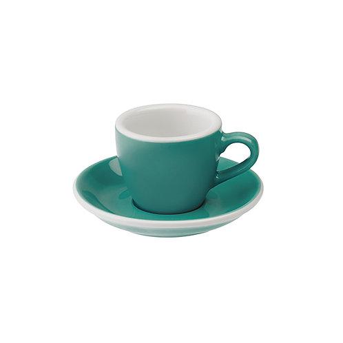 Espressotasse EGG 80 ml Teal, inkl. Unterteller