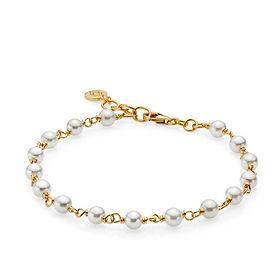 MISS PEARL - Bracelet gold pl. silver. f