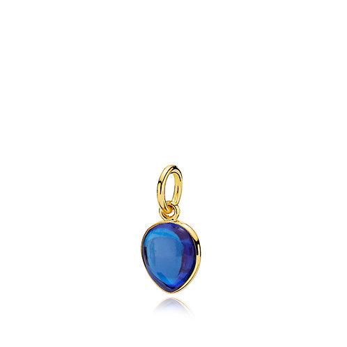 SKYLINE ANHÄNGER Silber vergoldet - Royalblauer Kristall