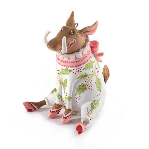 JAMBO! MINI ORNAMENT  - Winifred Warthog