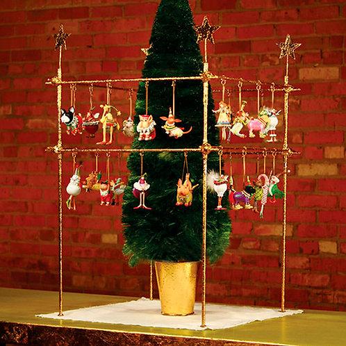 CHRISTMAS MINI DISPLAY - Square Display with Stars