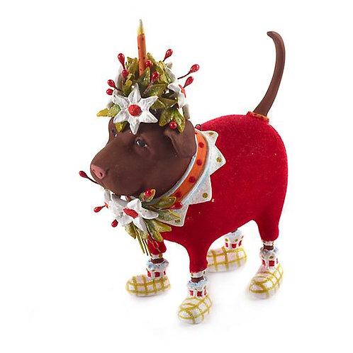 DOGS ORNAMENT - Lola Chocolate Lab