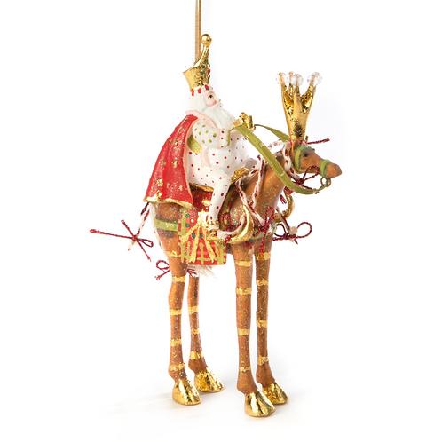 NATIVITY ORNAMENT - Melchior on Horse