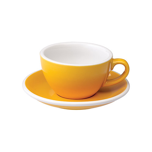 Cappuccinotasse EGG 200 ml Gelb, inkl. Unterteller