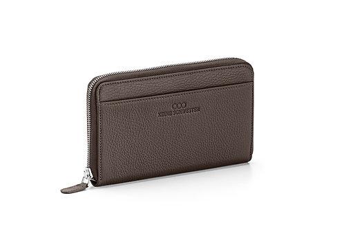 Portemonnaie «Okka» soft in Dunkelbraun