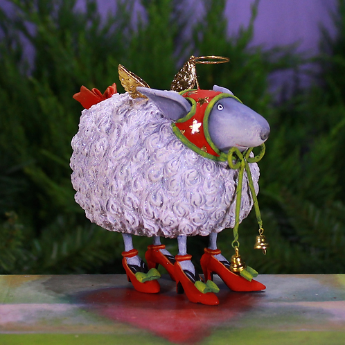 CHRISTMAS ORNAMENT - Blanche White Sheep