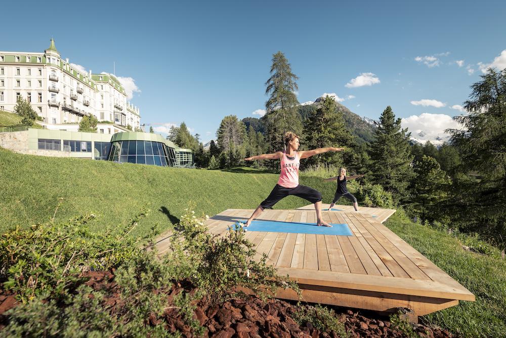 Grand Hotel Kronenhof Yoga ©Grand Hotel
