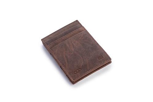 Portemonnaie «wunderbörse» gebürstetes Leder braun