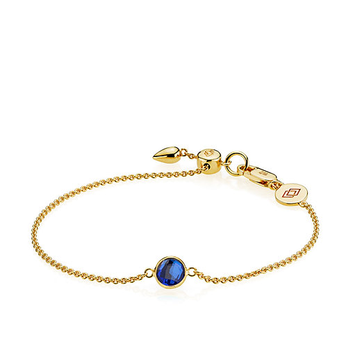 PRIMA DONNA ARMBAND Silber vergoldet - Royalblauer Doublet Quarz