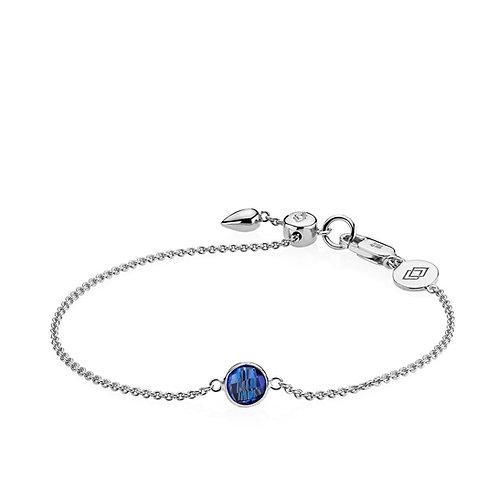 PRIMA DONNA ARMBAND Silber - Royalblauer Doublet Quarz