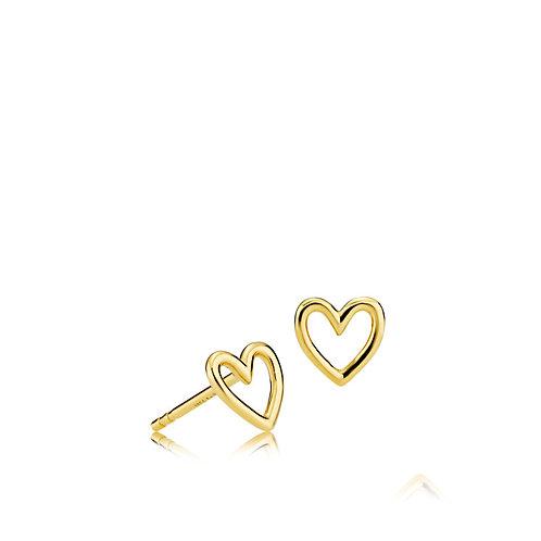 LOVE OHRSTECKER Silber vergoldet