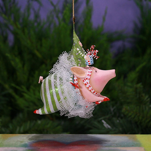 PIGS ORNAMENT - Joyful Flying Pig