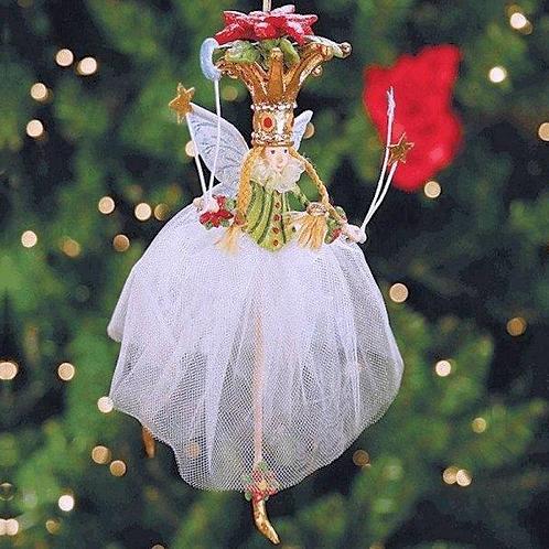 CHRISTMAS ORNAMENT - Poinsettia Fairy
