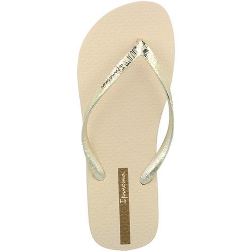 Flip-Flop Glam II Fem, beige/metallic gold