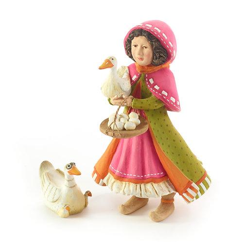NATIVITY FIGUREN - Girl with Duck Set