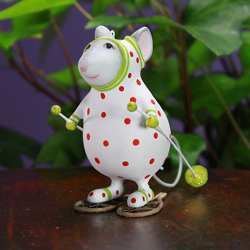 WOODLAND ORNAMENT - Pip Snowshoe Mouse
