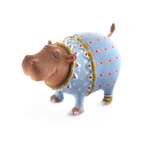 JAMBO! MINI ORNAMENT - Hugo Hippo