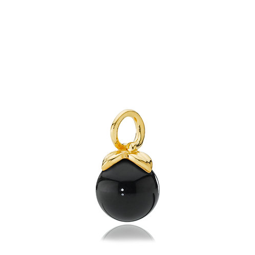 BERRY ANHÄNGER Silber vergoldet - Onyx