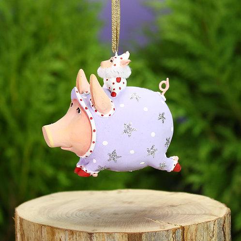 PIGS MINI ORNAMENT - Tinkerbelle Pig