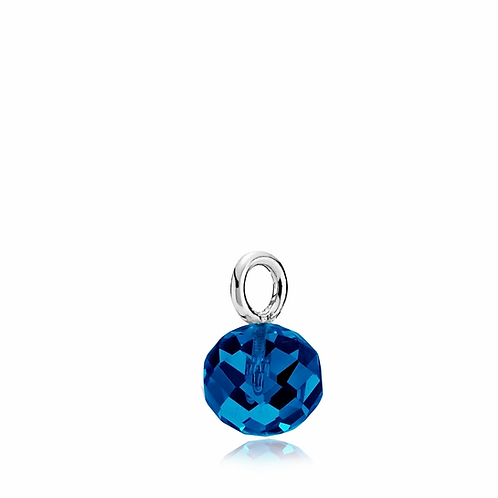 MARBLE ANHÄNGER Silber - Kristallglas
