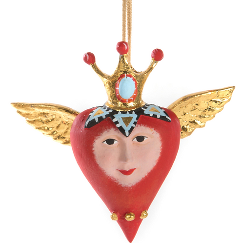 LOVE MINI ORNAMENT - Heart with Crown