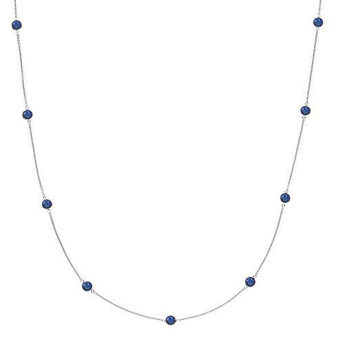 PRIMA DONNA HALSKETTE Silber -Royalblauer Doublet Quarz