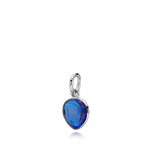 SKYLINE ANHÄNGER Silber - Royalblauer Kristall