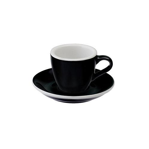 Espressotasse EGG 80 ml Schwarz, inkl. Unterteller