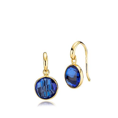 PRIMA DONNA OHRRINGE Silber vergoldet - Royalblauer Doublet Quar