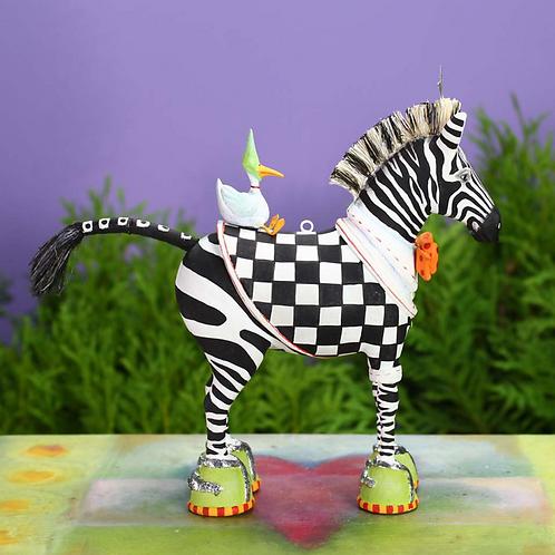 JAMBO! ORNAMENT - Zeke Zebra