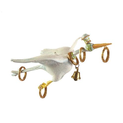 12 DAYS ORNAMENT - 5 Golden Rings Goose Display Figure